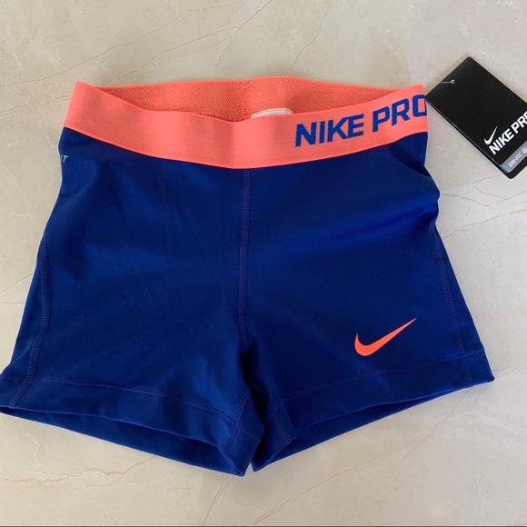 b158032b Nike Shorts   Pro Womens Compression Blue S   Poshmark
